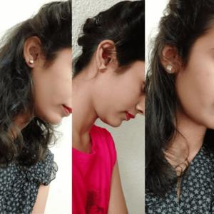Types Of Stud Earrings Silver Stud wearing by women